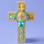Precious Moments Jesus Loves Me Boy Praying Cross Hanging Art 701106