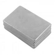 30x20x2mm Rectangle Super Strong NdFeB aimants en néodyme bricolage Set - Silver ( 5 PCS )