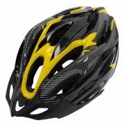 Casco de seguridad ciclista de ciclismo de 21 hoyos - negro + amarillo
