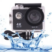 H9 4K Ultra HD1080P 12MP 2 inch LCD Screen WiFi Sports Camera 170 Degrees Wide Angle Lens 30m Waterproof(Black)