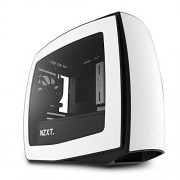 Nzxt Itx Manta Matte White + Black Ca-Mantw-W1 Case per PC da Gaming Mini, Nero/Bianco