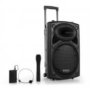 "Ibiza Port12VHF-BT Портативен 12"" ПА Високоговорител д USB SD AUX MP3 Bluetooth (BD-Port12VHF-BT)"