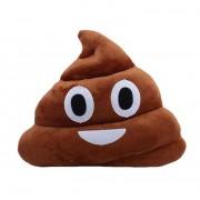 Soft Smiley Emoticon Dark Brown Cushion Pillow Stuffed Plush Toy Doll (Happy Poo)