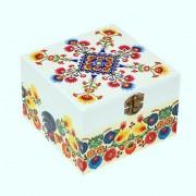 Cutie lemn decorata motiv traditional - folk - 8378