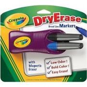 Crayola Dry-Erase Magnetic Eraser and 2 Dry-Erase Markers