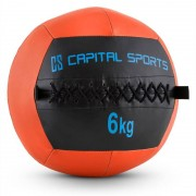 Capital Sports Epitomer Wall Ball 6kg cuir synthétique -orange
