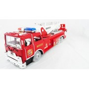 Rescue Team Large Fire Truck With Lights And Sounds Bump N Go Action Battery Operated Fire Engine Toy With Light...
