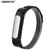 Protective Case Cover Holder + Milanese Magnetic Loop Wrist Bands Strap For Xiaomi Mi Bands 2 /1A/1S Smart Wristband