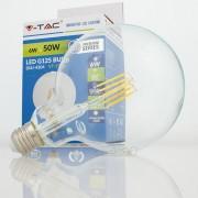 Lâmpada LED E27 6w»60W Luz Quente 550Lm G125 FILAMENTO