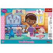 Trefl Frame Disney Doc McStuffins At A Doctor Puzzle (15 Pieces)