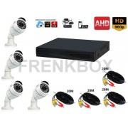 Kit videosorveglianza AHD DVR P2P 4 ch Cloud Telecamere 1.3Mpx 1500tvl