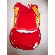 Peluche Doudou Range Pyjama Voiture Rouge Flash Mac Queen De Cars ( Disney Pixar) Jemini 40 Cm X 21