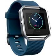 FitBit Blaze Fitness Tracker in blau/silber, Größe: L