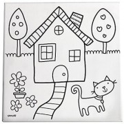 Gibby & Libby Paint and Create Canvas Kit Home Sweet Home by C.R. Gibson