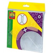 SES Creative Iron On Beads Pegboards Clear 2-Pack