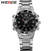 WEIDE Top Brand Luxury Quartz-Watch Men Sport Watches Stainless Steel Waterproof Outdoor Army Military Relogio Masculino WH843