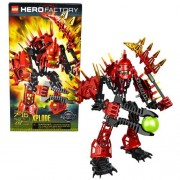 Lego Year 2010 Hero Factory Series 7 Inch Tall Villain Figure Set # 7147 - Von Nebula's Henchman XPLODE with Blazing Spiked Armor and Meteor Blaster (Total Pieces: 45)