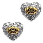 Cercei Juicy Couture inimi pave argintiu