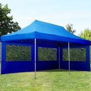 Intent24 3x6m Tente pliante , ECONOMY Alu, bleu