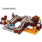 LELE 2017 New Technic Compatible LegoINGlys Minecrafter The Nether Railway Building Blocks My World Educational Toys 402 Pcs