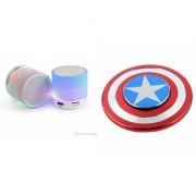 ETN Music Mini Bluetooth Speaker(S10 Speaker) And Captain America Spinner for LG G3