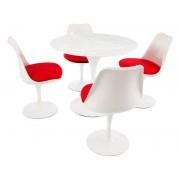 Table Tulip Saarinen et 4 chaises