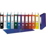 Biblioraft A4, plastifiat PP/PP, margine metalica, 75 mm, ESSELTE No. 1 Power - visiniu