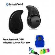 MacBerry Redmi Note 3 Compatible Set of Cute Little OTG Adaptor+ smart Bluetooth Headset with mic ( Random Color)