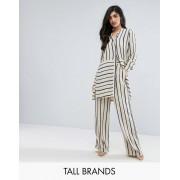 Y.A.S Tall Комбинируемые брюки в полоску с широкими штанинами Y.A.S Tall - Мульти