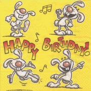 Servetele de masa, 3 straturi, 33 x 33cm, 20 buc/pachet, HERLITZ Happy Birthday Joke