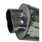 Escape Oval GSX-F 750 99/05 C/Ponteira 8 Fortuna