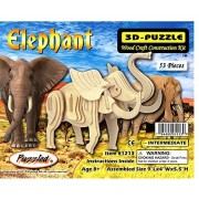 Elephant 3D Wood Puzzle Wooden Construction Kit by Wild Adventures by Wild Adventures