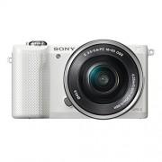 Sony Alpha 5000L Fotocamera Digitale Compatta con Obiettivo Intercambiabile, Sensore APS-C CMOS Exmor HD da 20,1 MP, Obiettivo 16-50mm incluso, Bianco