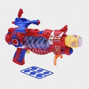 ElectroBot Super power Shooting Gun With Laser Surge,Crazy Time,Death Missile,Combat Power Handle, Yellow Colour Flashing Light Sound Target Shooting Gun For Kids
