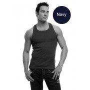 Go Softwear Racer Back Tank Top T Shirt Navy 4605