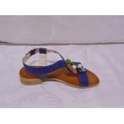 Sandale din piele - Prego - CORA Bleumarin