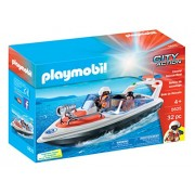 PLAYMOBIL 5625 Rescue Coastal Boat Playset
