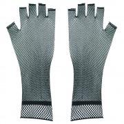 Rękawiczki z czarnej siateczki