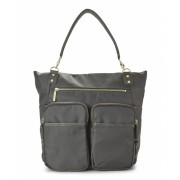 olivia joy Grey Zip Zoom Tote Grey