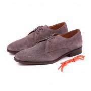 Luxus Herren Schuhe Suede Rog Taupe - Taupe 44