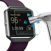 0,33 milímetros à prova de explosões anti zero filme protetor protetor de tela de vidro temperado para incêndio Fitbit