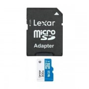 Card Lexar microSDHC 16GB Clasa 10 UHS-I cu adaptor SD