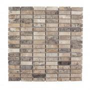 Mozaic Travertin Silver Polisat 1.4 x 4.7 cm
