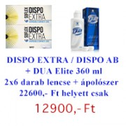 Dispo 55 / Dispo Aspheric (2 doboz 6db-os) + DUA Elite 360 ml - AKCIÓS