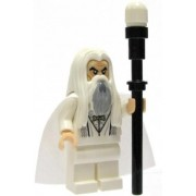 Lego Lord of the Rings Minifigure Saruman the White with Staff