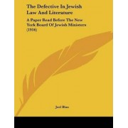 The Defective in Jewish Law and Literature by Professor of Social Policy Joel Blau
