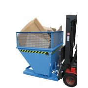 Billenthető tartály, üríthető konténer 0,5 - 0,75 és 1m3 1000 kg magasított oldalfallal. Targonca adapter - targonca villára húzható!