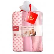Scutece textile set 3 buc pink