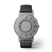 Ceas de mână tactil unisex EONE Bradley cu curea neagră de piele acoperită cu textil