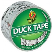 Duck Brand 284174 Printed Duct Tape Roar! 1.88 Inches x 10 Yards Single Roll